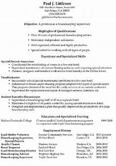 Housekeeping Resume Format Functional Resume Sample Housekeeping Supervisor