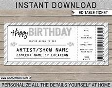 Concert Ticket Invitation Template Free Printable Concert Ticket Template Printable Birthday