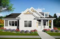 two bedroom modern craftsman house plan with rear entry