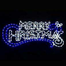 Rope Light Christmas Signs 1 5m Santa With Stars Silhouette Rope Light Outdoor