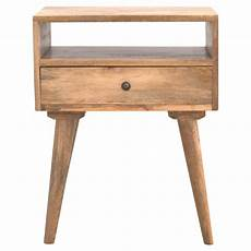 solid oak finished mango wood 1 drawer 1 shelf bedside