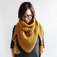 knitting scarf triangle tassel scarf knitting pattern knit scarf