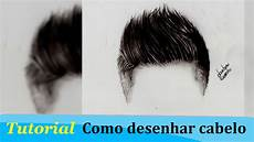 tutorial 1 how to draw realistic hair como desenhar