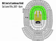 Lambeau Field Billy Joel Seating Chart Event Usa Packers Tickets And Game Packages Billy Joel