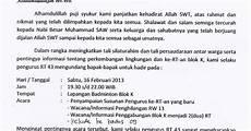 contoh surat undangan rapat organisasi assalam print