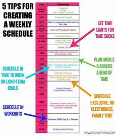 Create A Schedule How To Create A Weekly Schedule That Helps You Get More