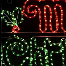 Rope Light Christmas Signs Merry Christmas Mains Voltage Festive Rope Light Sign