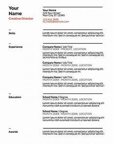 Name Your Resumes Google Doc Resume Templates