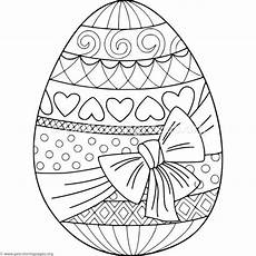 gift wrapped easter egg coloring pages getcoloringpages org