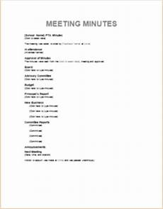 Meeting Of Minutes 7 Meeting Minute Templates For Professionals Templateinn