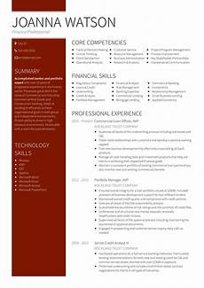 Sample Professional Resume Templates 18 Best Banking Sample Resume Templates Wisestep