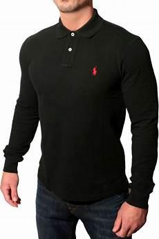 polo ralph polo sleeve t shirt in black