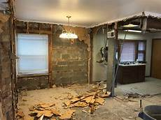 interior of homes the interior demolition has started on our addition in