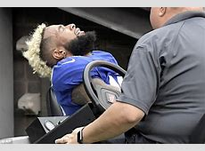 Odell Beckham Jr fractures ankle in latest Giants disaster