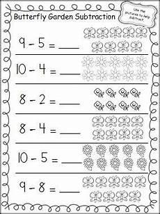 butterfly garden subtraction worksheet teacher ideas