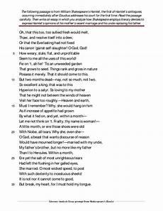 Hamlet Literary Analysis Essay Critical Analysis Of Hamlet Soliloquies Hamlet Soliloquy