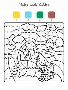 Ausmalbilder Ostern Nach Zahlen Malen Nach Zahlen Osterei Und K 252 Ken Ausmalen Zum Ausmalen