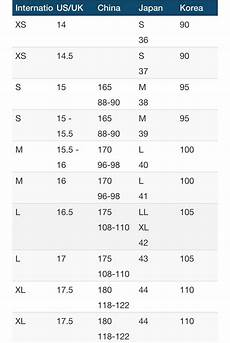 Asian Size Chart I Wear A Men S Medium In Us Size So What Size Do I Wear In