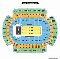 Xcel Energy Center Interactive Seating Chart Xcel Energy Center St Paul Mn Seating Chart View