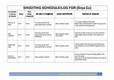 Shooting Schedule Sample Shooting Schedule Shoot 3