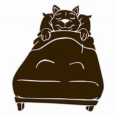 cat sleeping bed detailed silhouette transparent png