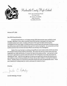 Letters Of Concern Principal S Letter In Response To Rchs Safety Concerns