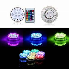 Led Party Table Lights 4 Pcs Wedding Decoration Remote Control Submersible Led