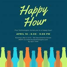 Happy Hour Invite Wording Happy Hour Invitation Templates Canva