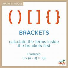 Brackets In Math Pin By Math Expression On Math Symbols Pinterest