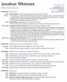 Scientist Resume Templates Free 7 Sample Data Scientist Resume Templates In Pdf Ms