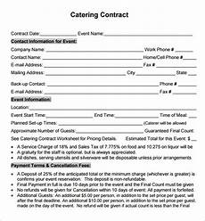 Catering Agreement Template Catering Contract Template Playbestonlinegames