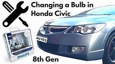 Honda Civic Light Bulb Change Headlight Bulb In A Honda Civic 2006 8th Gen Fd
