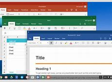 Microsoft Office is now available on every Chromebook