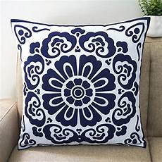 floral blue and white howarmer 174 cotton canvas decorative
