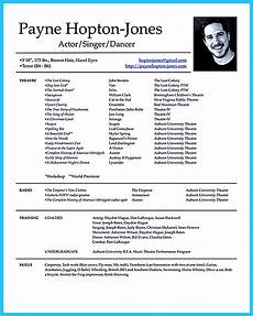 Child Actor Resume Format Actor Resume Template Gives You More Options On How To