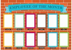 The Chart Employee Of The Month Wall Vector Download Free Vector
