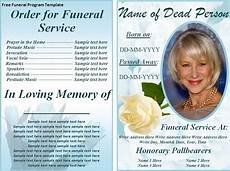 Memorial Pamphlet Template Free Free Funeral Program Template Word Excel Pdf With