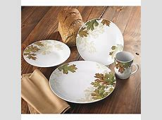 Fall Leaves 16 Piece Dinnerware Set