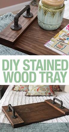 diy stained wood tray wood tray trays and tutorials