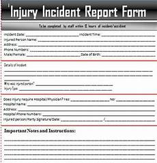 Odjfs Incident Report Sample Incident Report Letter Word Incident Report
