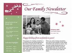 Holiday Family Newsletter Templates Christmas Newsletter Template Christmas Newsletter