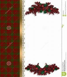 Christmas Card Borders Free Christmas Border Red Plaid Royalty Free Stock Images
