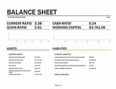 Balance Sheet Excel 免费 Balance Sheet Template Excel Worksheet 样本文件在