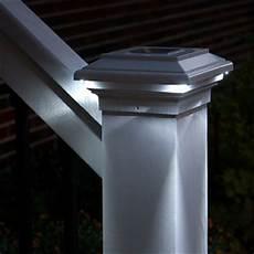 Trex Deck Post Solar Lights Aries Solar Post Cap Light By Aurora Deck Lighting