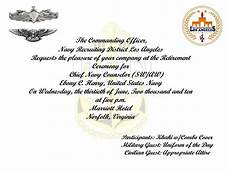 Military Retirement Invitations Sample Military Retirement Invitations