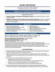 Experience Format Resume Sample Resume For An Experienced It Developer Monster Com