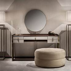 modern italian wenge and nubuck dressing table and mirror