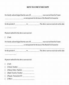 House Rent Payment Receipt Format Rent Receipt Format Sample 8 Examples In Pdf