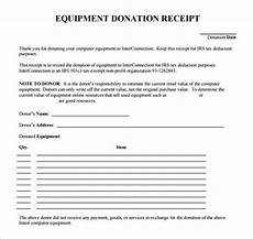 equipment receipt form template free 9 donation receipt templates in free sles