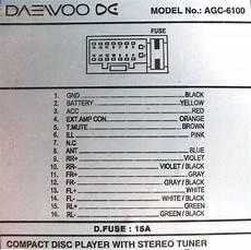 Распиновка разъемов автомагнитол Daewoo